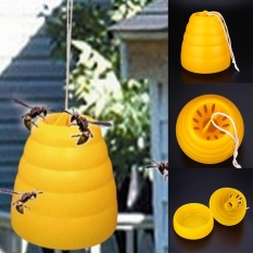 Hình ảnh Flying Hanging Wasp Trap Fly Flies Insect Bug Honey Pot Traps Poison Free - intl