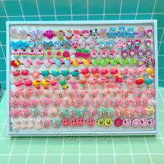 Hình ảnh Giao ngẫu nhiên 1 nhẫn nhựa hoạt hình , thú công chúa frozen dành cho trẻ em và bé gái - NHANHH001