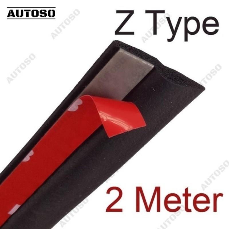 Gioăng cao su chữ Z chống ồn xe hơi - Bộ 2m, chống bụi chống thoát nước cao cấp - AUTOSO