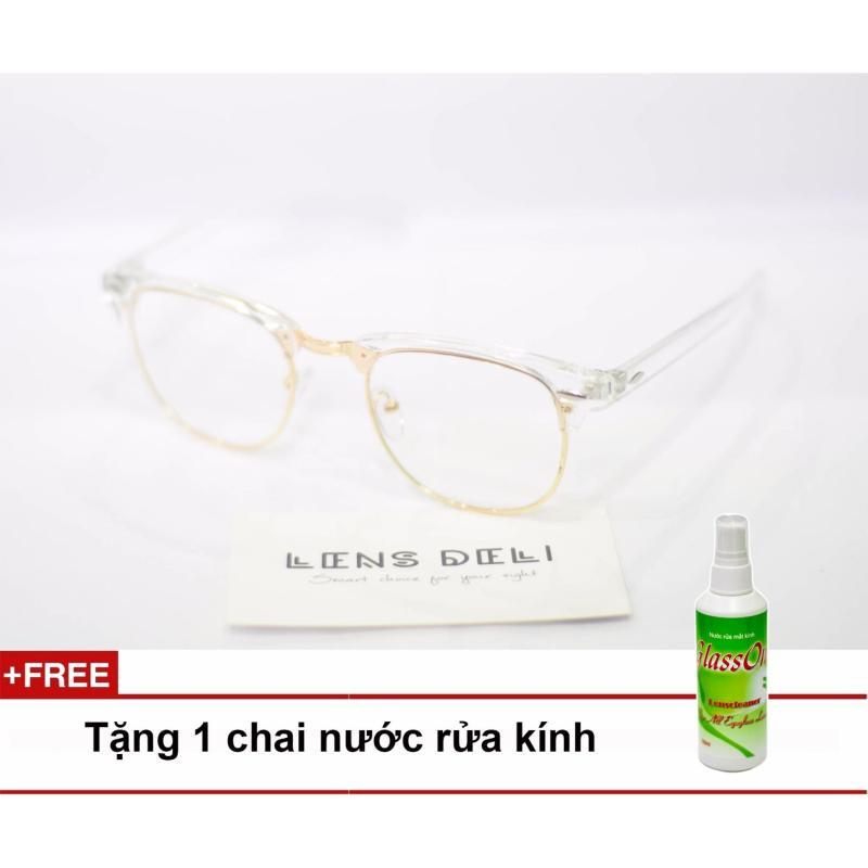 Giá bán Gọng kính cận trong suốt LENS deli + Tặng 1 chai nước rửa kính Glassone