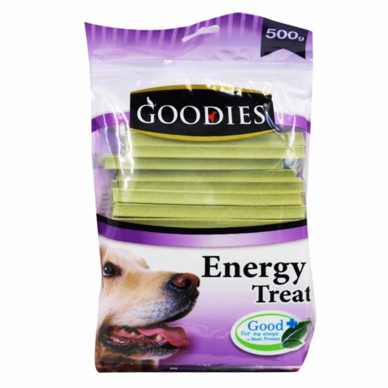 Que thức ăn vặt vị rau size lớn cho chó Goodies que M chlorophyll 500g