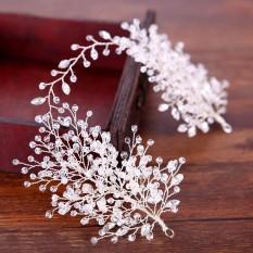 Handmade Clear Crystal Cluster Beads Wedding Jewelry Headbands New Tiara Hair Jewelry HairBands - intl