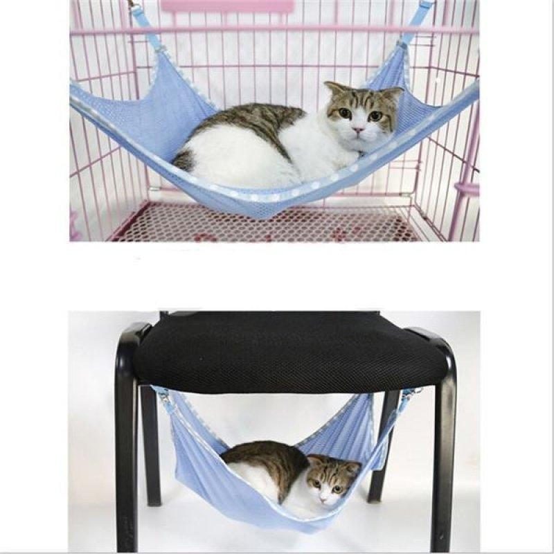 Hang-qiao Mèo Cưng Lưới Võng Lồng Treo Giường Xanh Dương-Quốc Tế-quốc tế