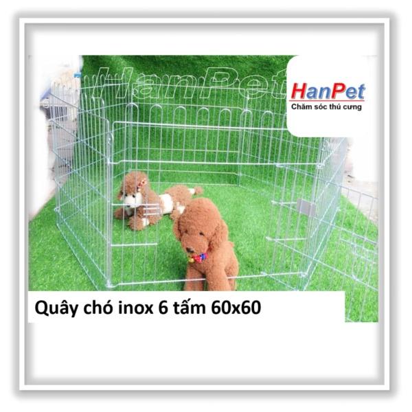 HN-Quây chó sơn tính điện - Hàng rào 6 tấm  60x63 - cũi chó hanpet 501