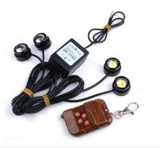 VND 298.000. Hetu 4 pcs White LED Eagle Eye Knight Night Rider Scanner Lighting DRL Flashing Lights Lamp ...