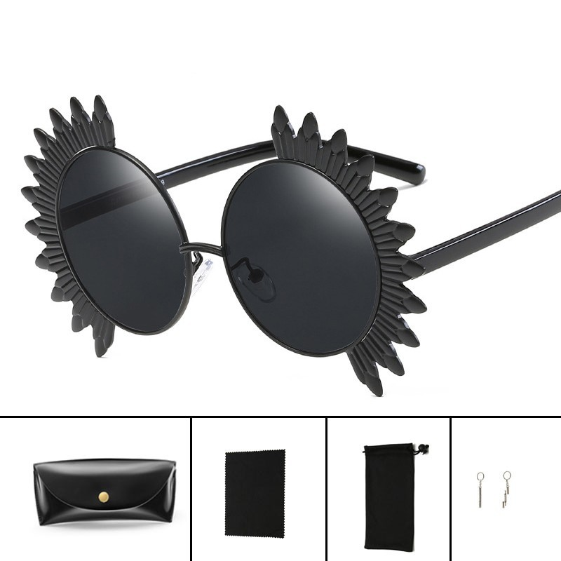 3f16b455026 Hindfield 7708 Luxury Round Sunflower Sunglasses Women Brand Designer Metal  Frame Mirror Sun Glasses Personality Fashion Eyewear - intl tốt