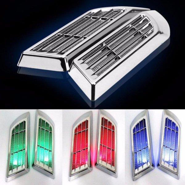 Hốc gió có đèn LED năng lượng mặt trời cho xe ô tô