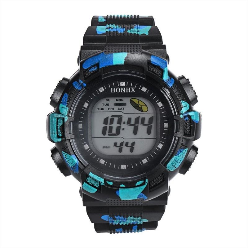 Nơi bán HONHX Thương Hiệu đồng hồ mặt tròn dễ thương đồng hồ kỹ thuật số giá rẻ ngụy trang đồng hồ đeo tay cho trẻ em cam phối phong cách silicone đống đổ nát đồng hồ 71- quốc tế