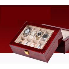 Nơi bán Hộp đựng đồng hồ, hộp đựng đồng hồ bằng gỗ, hộp đựng đồng hồ giá tốt, hộp đựng 10 đồng hồ bằng gỗ