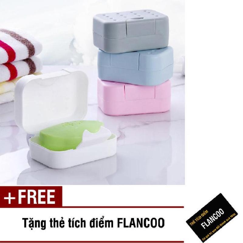 Hộp đựng xà bông du lịch Flancoo S1043 (Xám) + Tặng kèm thẻ tích điểm Flancoo