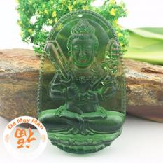 Bán Mặt Day Chuyền Phật Bản Mệnh Hư Khong Tạng Lưu Ly Xanh La Nguyên