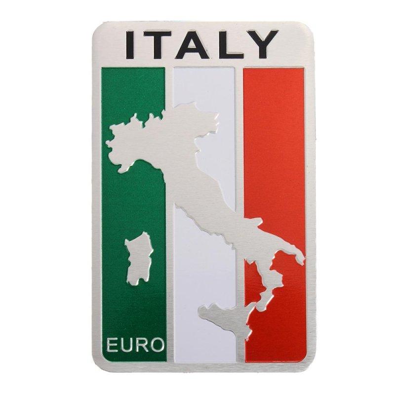 Italy Italian Flag Emblem Sticker Metal Badge Decal Decor for Car Truck Auto - intl