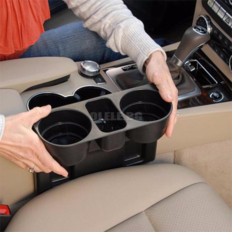 [XẢ KHO 3 NGÀY GIÁ 55K] Khay để đồ cốc gắn khe ghế ô-tô, khay đựng đồ khe ghế trên ô tô nhựa ABS siêu bền, đẹp (Đen)