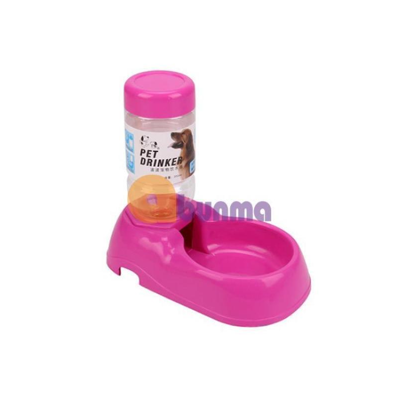 Khay uống bán tự động mini cho Pet (Chó, mèo) MPD-10, Khay nước cho chó mèo - Đỏ