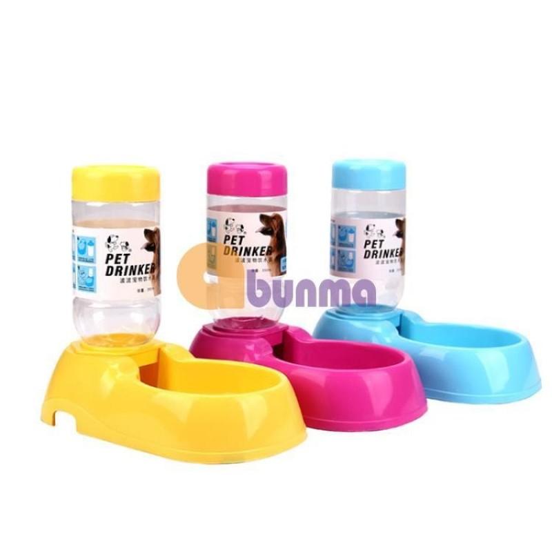Khay uống bán tự động mini cho Pet (Chó, mèo) MPD-10, Khay nước cho chó mèo - Xanh