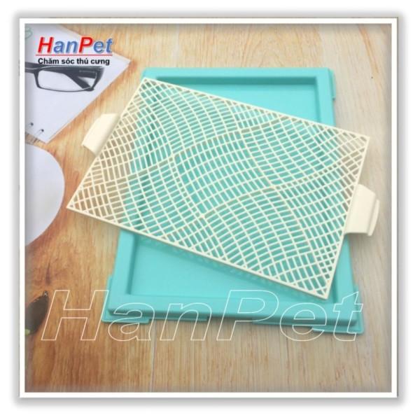 Hanapet-Khay vệ sinh cho chó dạng lưới ( 377)+ Tặng 3 tấm lót chuồng, sàn xe