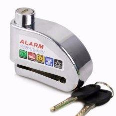 Ôn Tập Khoa Đĩa Bao Động Xe May Alarm Disc Lock Trắng Bạc Giá Hot Nhất