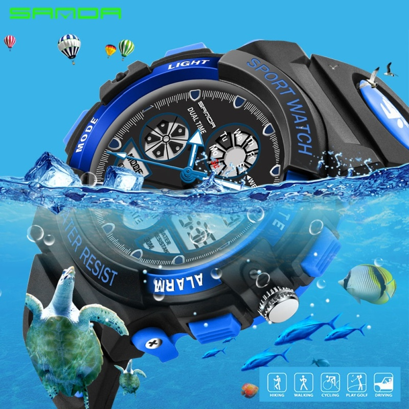 Nơi bán Kids Alarm Clock  Children Sports Watches LED Digital Quartz Military Watch Boy Girl Student Multifunctional Wristwatches - intl