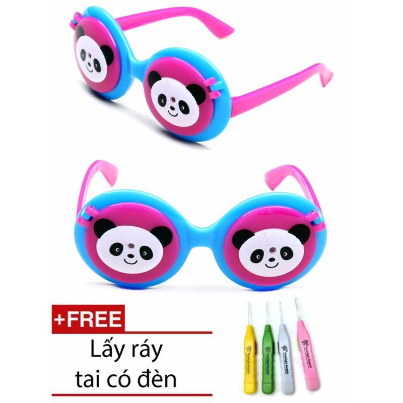 Giá bán Kính mắt chống nắng thời trang hình gấu trúc cho bé + 1 ngoáy tai có đèn cao cấp