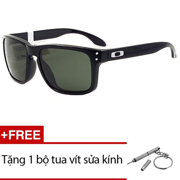 Giá bán Kính mát Oakley HOLBROOK OO9244 03 (Đen) + Tặng 1 bộ tua vít sửa kính