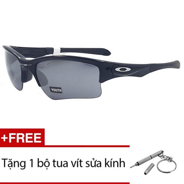Giá bán Kính mát Oakley QUARTER JACKET OO9200 01 (Đen) + Tặng 1 bộ tua vít sửa kính