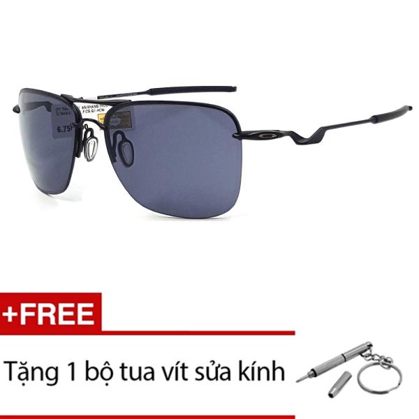 Giá bán Kính mát Oakley TAILHOOK OO4087 01 (Đen) + Tặng 1 bộ tua vít sửa kính