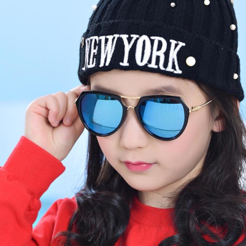 Giá bán Kính mát thời trang đa giác cao cấp dành cho bé yêu Kids Love Korea 2017 F215 (Đen)
