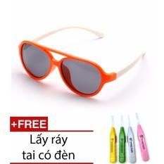 Giá bán Kính trẻ em gọng dẻo mắt chống tia UV + Ngoáy tai có đèn cao cấp SYT.WnG.4096