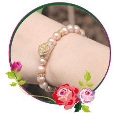 Lắc Tay Ngọc Trai - Vòng Ngọc Trai Đeo Tay - Chuỗi Ngọc Trai Đeo Tay L-3712 Bảo Ngọc Jewelry