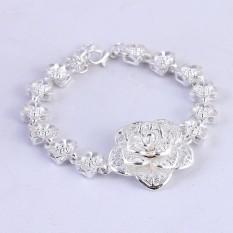 Lắc tay thời trang cao cấp tạo hình hoa quỳnh ánh bạc MK41