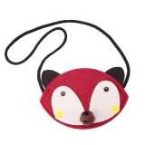 LALANG Animal Shape Baby Toy DIY Nonwoven Mini Bag Coin Purses (Burgundy fox)  - intl