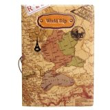 Bán Leather World Map Passport Holder Organizer Travel Card Case Document Cover(Brown) Intl Trung Quốc Rẻ