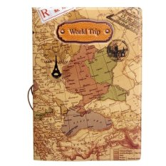 Bán Leather World Map Passport Holder Organizer Travel Card Case Document Cover(Brown) Intl Có Thương Hiệu