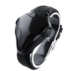 Hình ảnh LED Digital Fashion Boy Mens Cobra Iron Triangle Dial Wrist Watch New - intl