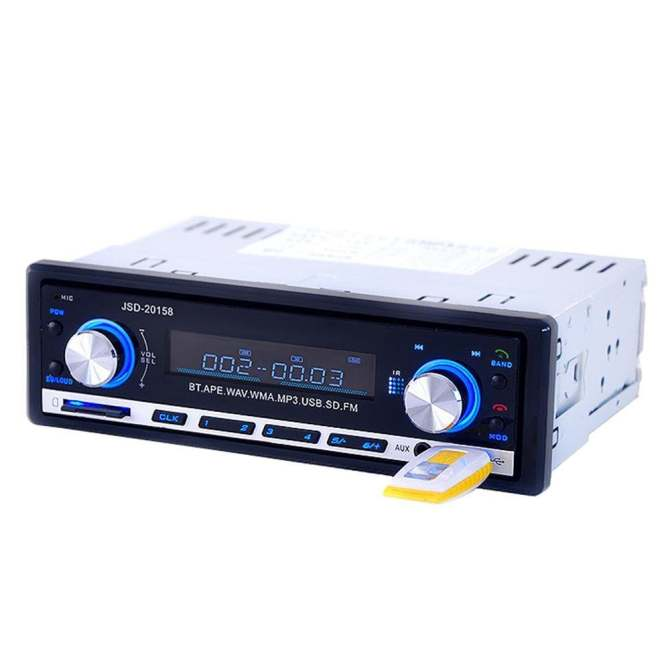 leegoal Bluetooth Car Stereo Receivers 60W Single Din Audio Receiver Support MP3 Player/FM Radio