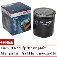 Lọc Nhớt (dầu) Oil Filter BOSCH O 1042 (Đen) Giảm Cực Đã
