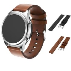 Luxury Genuine Leather Watch Strap Bracelet Wrist Band For Samsung Gear S3 Frontier/Classic - intl bán chạy