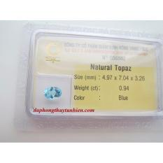 Mặt đá Topaz TỰ NhiÊn Oval Kiểm định 5x7 Li 56580 Legaxi By Legaxi.