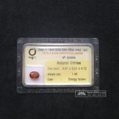Mặt đá CITRINE thiên nhiên-G25659