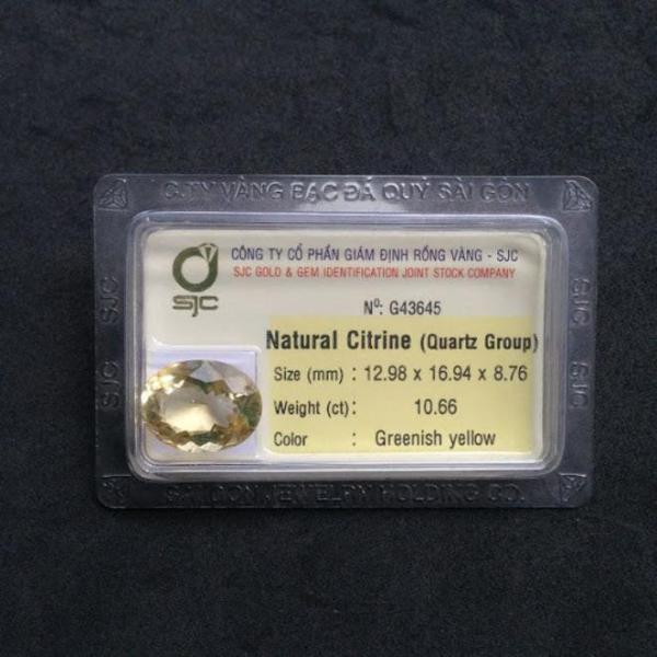 Mặt đá Citrine thiên nhiên-G43645