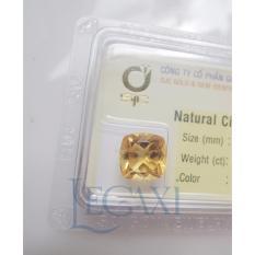 Mặt đá quý Citrine TỰ NHIÊN hình vuông 10 mm 63086 Legaxi