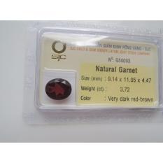 Mặt đá quý Garnet TỰ NHIÊN oval Kiểm định 9mmx11mm  50093 Legaxi