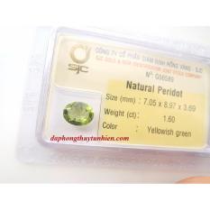 Mặt đá quý Peridot TỰ NHIÊN oval 7mm x 9mm  56589 Legaxi