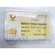 Mặt đá Sapphire Tự nhiên 6x8 li 50627 Legaxi màu vàng
