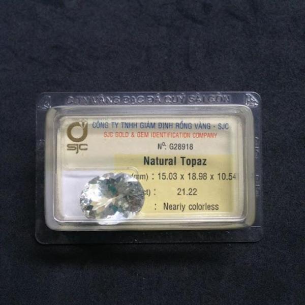 Mặt đá TOPAZ thiên nhiên-G28918