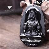 Bán Mặt Day Chuyền Phật Bất Động Minh Vương Obsidian Phong Thủy Bảo Tin Đen Bảo Tín