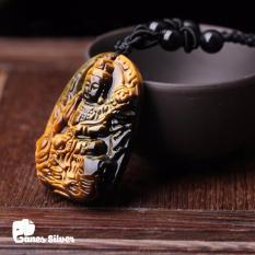 Ôn Tập Mặt Day Chuyền Phật Phổ Hiền Bồ Tat Chất Liệu Đa Mắt Hổ Vang Phong Thủy Thương Hiệu Ganes Silver