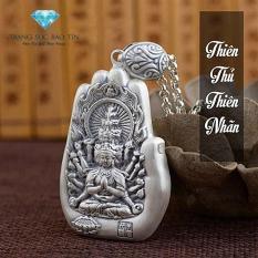 Mặt Day Chuyền Phật Thien Thủ Thien Nhan Hinh Ban Tay Chất Liệu Bạc Thai S99 9 Cao Cấp Bảo Tín Chiết Khấu