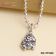 Hình ảnh Mặt đeo dây chuyền, lắc tay, lắc chân cho bé 12 con giáp bạc Thái S925 Bạc Xinh - Quà tặng tuổi Mùi PP1382