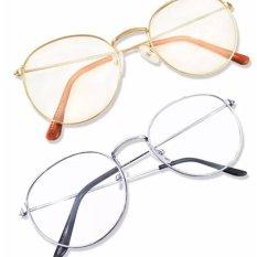 Mắt kính ngố giả cận  thời trang trẻ trung Hàn Quốc( trắng)